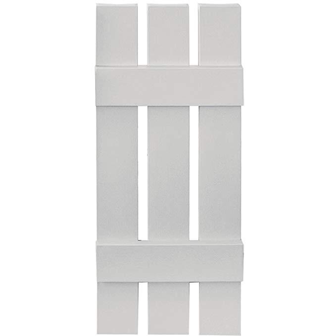 Builders Edge Paintable Board-N-Batten 3 Boards Spaced - Set of 2 (12 in. W x 1 in. D x 39 in. H (5.84 lbs.))