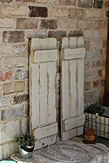 Doug and Cristy Designs White Distressed Farmhouse Shutters